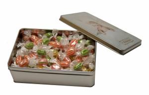 Plechová krabička – malý obdélník – roksová lízátka