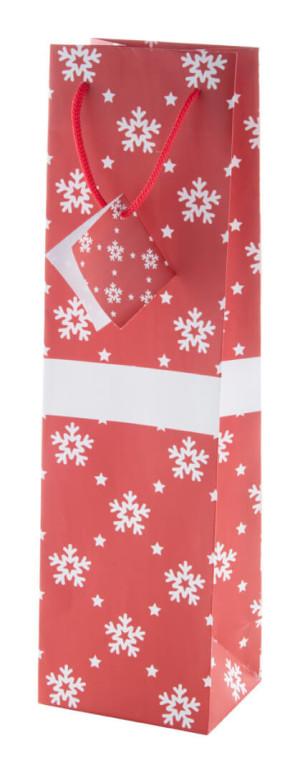 vánoční taška, na láhev