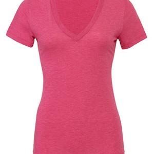 BL8435 Women´s Triblend Deep V-Neck T-Shirt