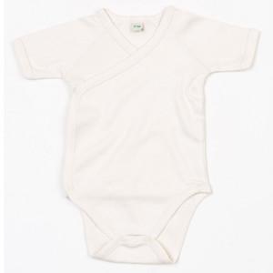 BZ05T Organic Baby Kimono Bodysuit