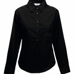 F702 Long Sleeve Poplin Shirt Lady-Fit