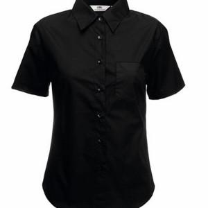 F703 Short Sleeve Poplin Shirt Lady-Fit