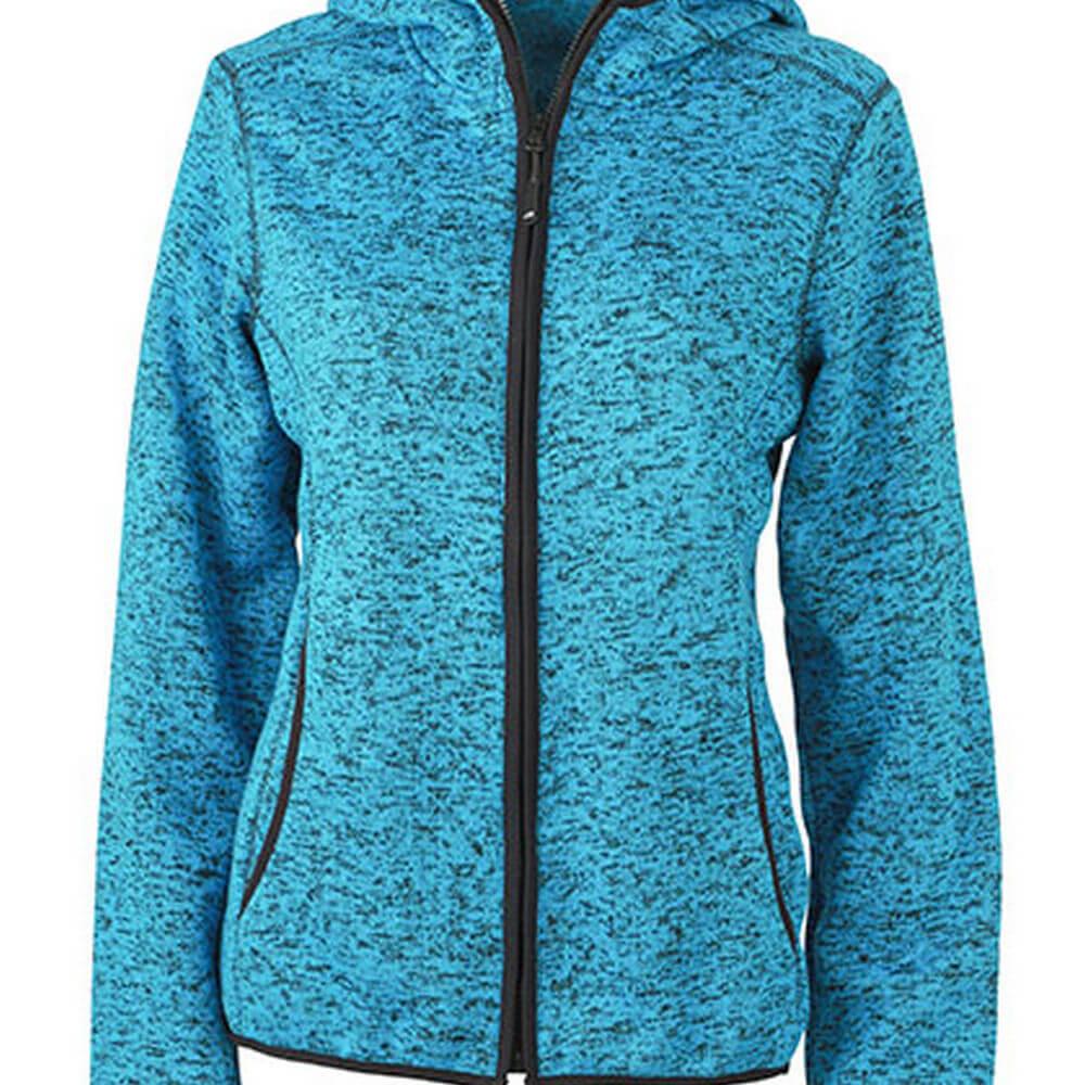 JN588 Ladies´ Knitted Fleece Hoody