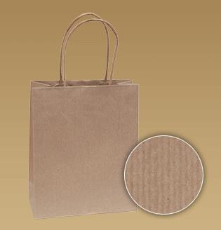 Brown-Taschen mit einem verdrehten Papier umgeschnallten Papier