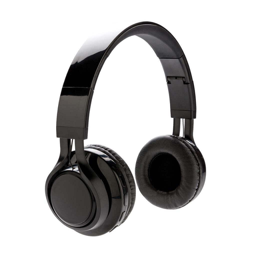 Wireless Kopfhörer mit leuchtendem Logo, schwarz