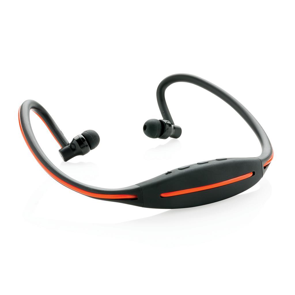 LED Sport-Kopfhörer, schwarz