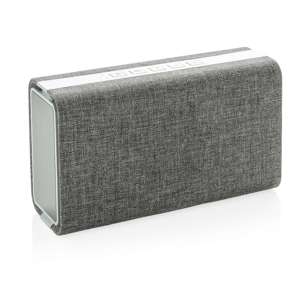 Vogue Lautsprecher und Powerbank mit Stoffbezug, grau