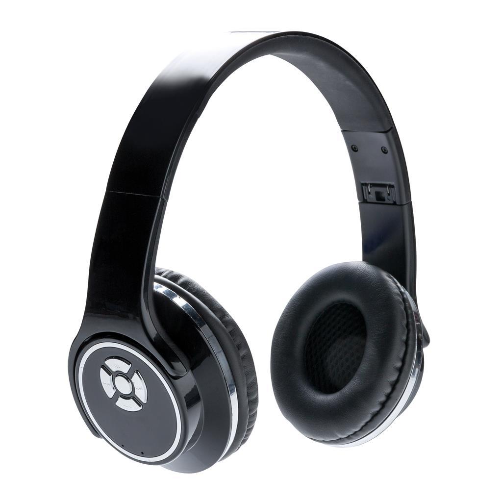 Kopfhörer und Lautsprecher, schwarz