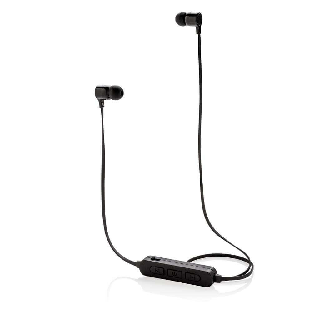 Wireless Ohrhörer mit leuchtendem Logo, schwarz
