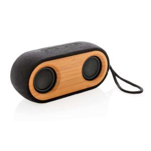 Bamboo X doppelter Lautsprecher, schwarz