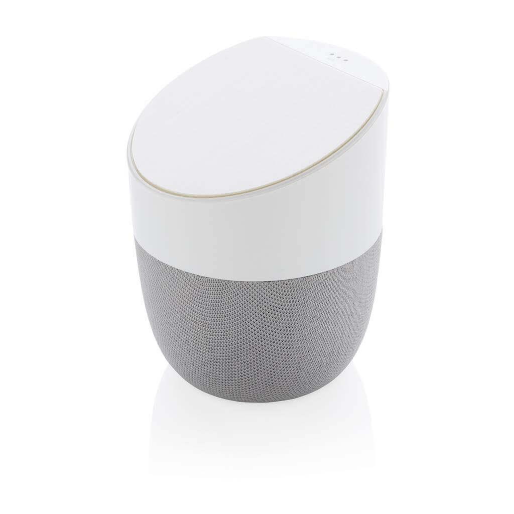 Home-Lautsprecher und Wireless-Charger, weiß
