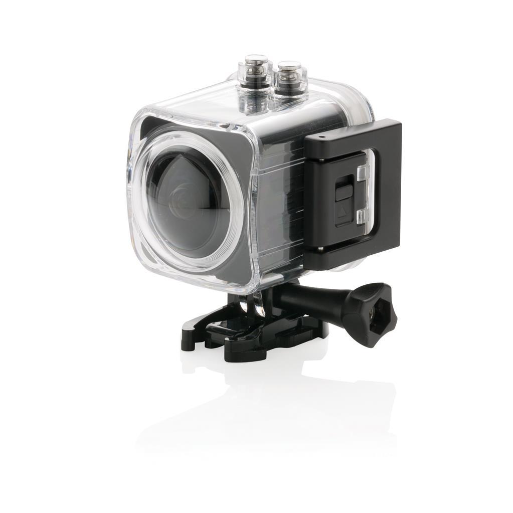 360 Grad 4K Action-Kamera, schwarz