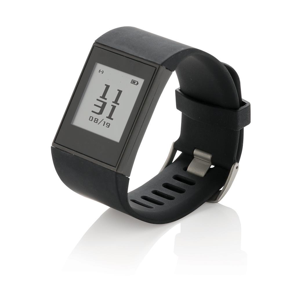 Multi-Sport E-ink-Uhr, schwarz