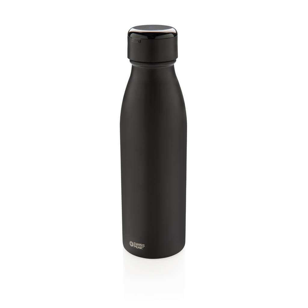Swiss Peak Vakuum Flasche mit Mini True-Wireless Kopfhörern,