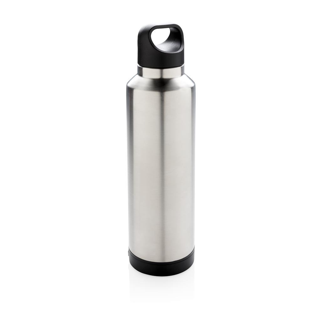 Vakuum Flasche mit Wireless-Charging, grau