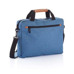 Modische Duo Tone Laptoptasche PVC frei, blau