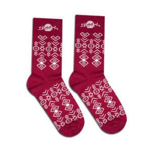 Sweat socks with folk pattern
