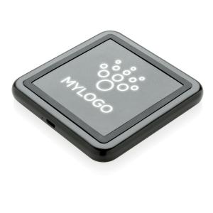 Graviertes Muster 5W Wireless Charger mit leuchtendem Logo,