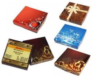 Form 016 - Schokolade mit Aufdruck in einer Schachtel
