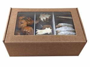 Butterkekse + Lebkuchen, Pappkarton Kraft
