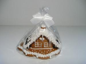 Kleines Lebkuchenhaus, dekoriert