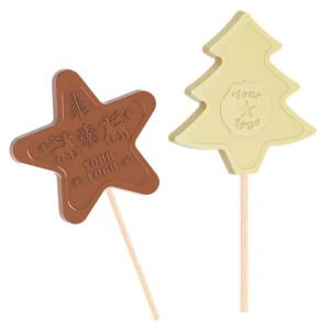 Schokoladenlutschernstern, Baum - Weihnachtsmotive