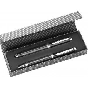 Klassischer Kugelschreiber und Tintenroller, Schwarz