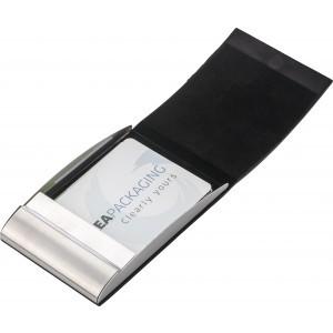 Vertical, curved business card holder