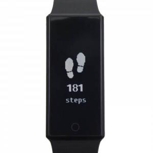 Edelstahl Smartwatch mit Silikonarmband