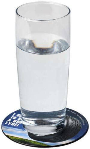 Runde Brite-Mat® mit recyceltem Reifenmaterial