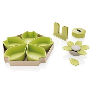 ECO 4-tlg. Küchenset aus Weizen, grün