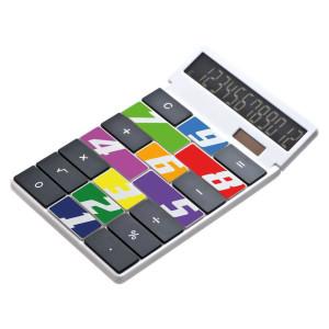 CrisMa weißer Kunststoff-Taschenrechner