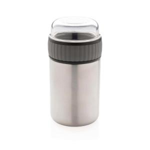 2-in-1 Vakuum Food-Container, grau