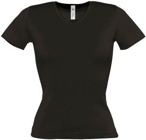B&C   Damen Ripp T-Shirt V-Neck