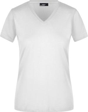 Körperbetontes Damen T-Shirt V-Neck