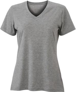 Damen V-Neck Heather T-Shirt