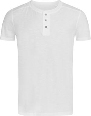 Herren Henley Slub T-Shirt
