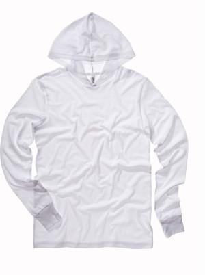 Unisex Jersey Kapuzen T-Shirt langarm