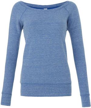 Triblend Sweater mit U-Boot Ausschnitt