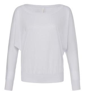 Damen Flowy schulterfreies T-Shirt langarm