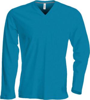 Herren V-Neck T-Shirt langarm