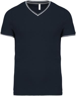 Herren Piqué V-Neck T-Shirt
