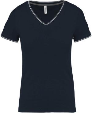 Damen Piqué V-Neck T-Shirt