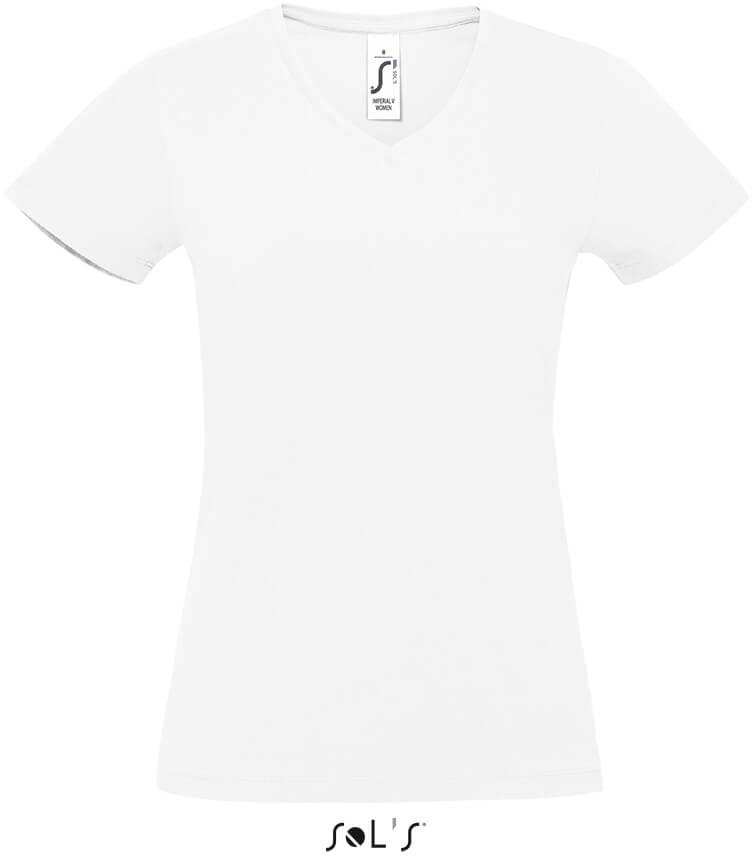 Damen V-Neck T-Shirt heavy