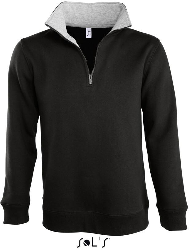 Sweater mit 1/4 Zip