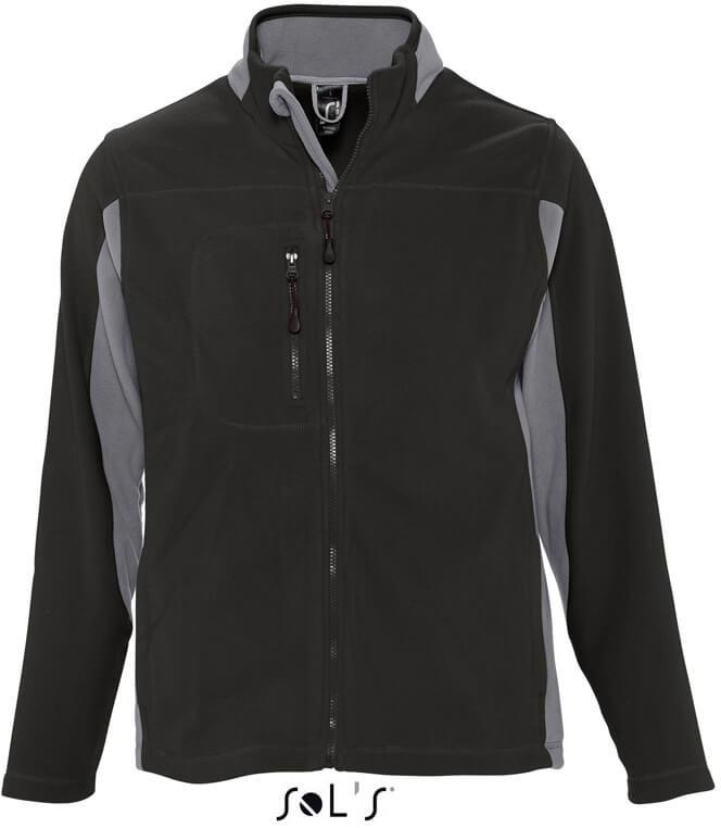 Kontrast Fleece Jacke