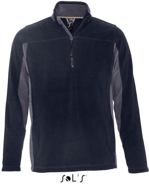 Kontrast Fleece mit 1/2 Zip