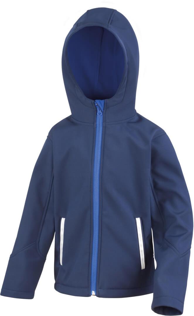 Kinder 3-Lagen Kapuzen Softshell Jacke