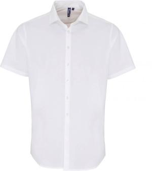 Popeline Stretch Hemd kurzarm