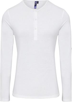 Damen Rollärmel T-Shirt langarm